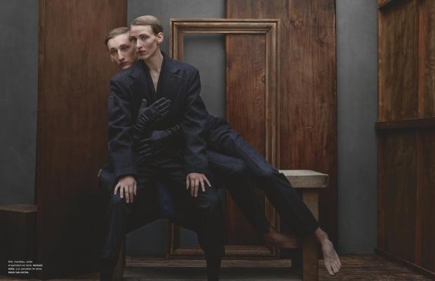 Maggie Mauer & Tom Gaskin by Julia Hetta (Gémeaux - Numéro #148 November 2013) 3