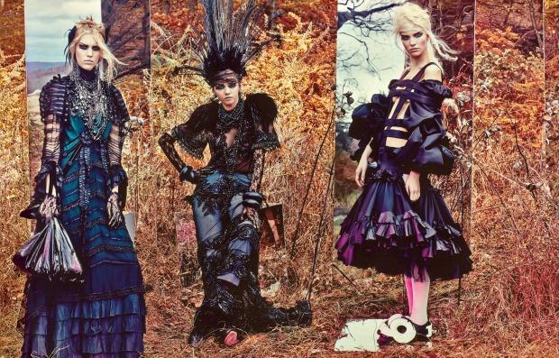Irene Hiemstra, Sasha Luss, Malaika Firth, Juliana Schurig & Marina Nery by Craig McDean (Field Day 8